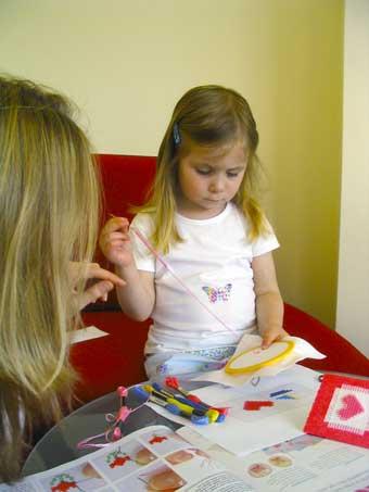 Обучение вышивке детей