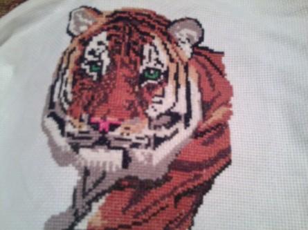 Тигр алиса вышивка дублерин клеевой купить в москве оптом