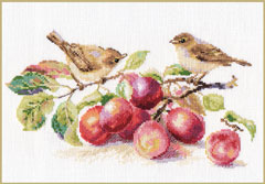 Birds and plum