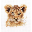 0-194 Portraits of animals. Lion cub